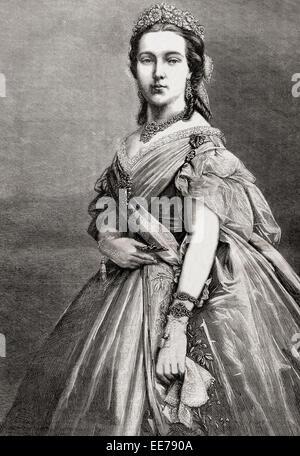 Marie Henriette of Austria, 1836 – 1902.  Queen consort of the Belgians as the wife of King Leopold II of Belgium. - Stock Photo