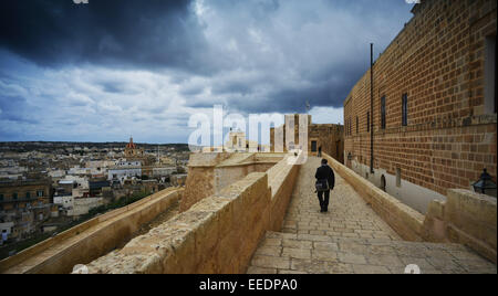The small island state Malta is a popular travel destination for tourists due to 5,000 years of history, picturesque - Stock Photo