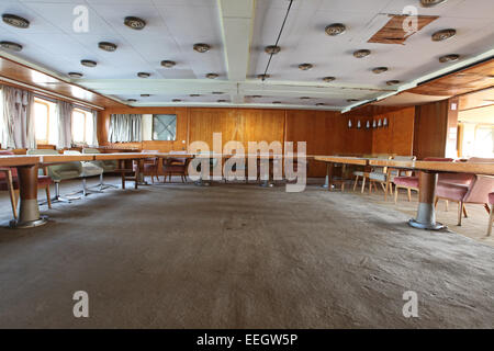 Conference room interior on board of Marshal Josip Broz Tito presidential yacht Galeb moored  in the harbor of Rijeka, - Stock Photo