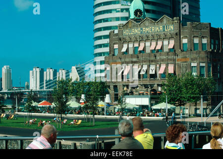 Netherlands, Rotterdam, House the Holland-Amerika Linie , Hotel New York - Stock Photo