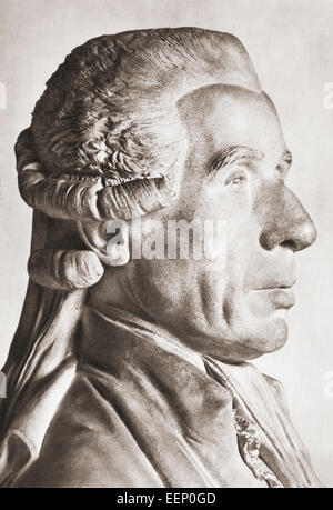 Jean-Sylvain Bailly, 1736 – 1793.   French astronomer, mathematician, freemason and political leader of the early - Stock Photo