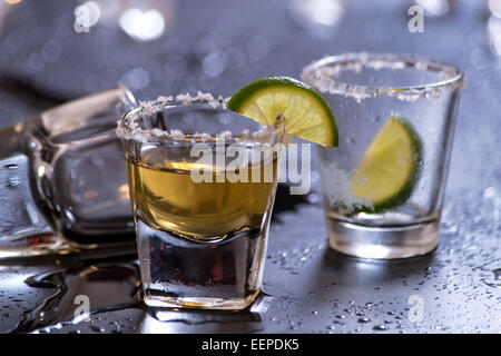 Tequila after party - Stock Photo