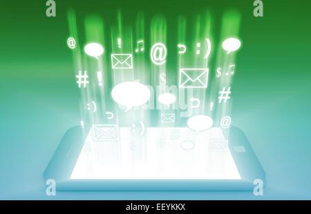 Emerging Mobile Market Media and Technologies Art - Stock Photo