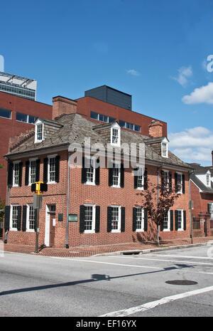 Star Spangled Banner House, 844 East Pratt Street,  Baltimore, Maryland - Stock Photo