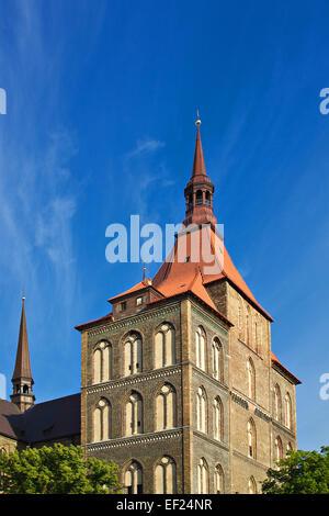 St. Mary's Church in Rostock (Germany). - Stock Photo