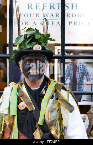 Nantwich, Cheshire, UK. 24th Jan, 2015. 'Refresh your Wardrobe' _ Penkhull Domesday Morris dancers at the Holly - Stock Photo