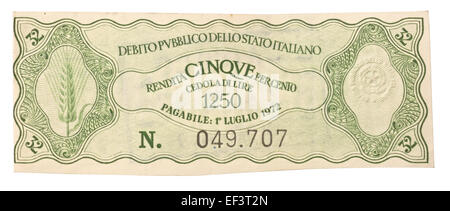 Old Italy bonds - Stock Photo