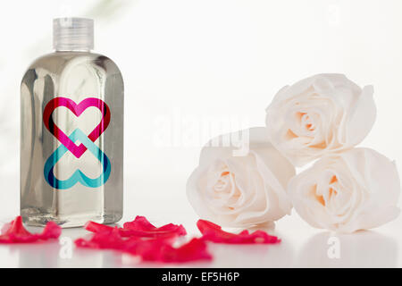 Composite image of linking hearts - Stock Photo