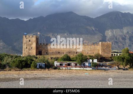 CASTLE & MOUNTAINS FRANGOKASTELLO CRETE GREECE 29 April 2014 - Stock Photo