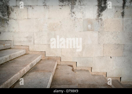 Grunge stairs, underground grunge background - Stock Photo