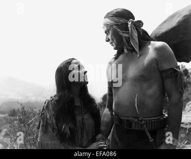 CAROL THURSTON, ALAN CURTIS, APACHE CHIEF, 1949 - Stock Photo