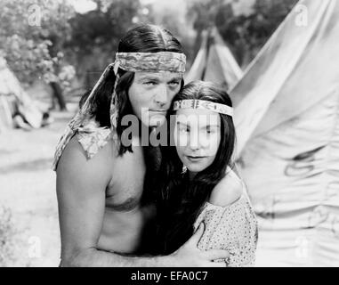 ALAN CURTIS, CAROL THURSTON, APACHE CHIEF, 1949 - Stock Photo