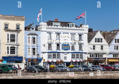 Royal Castle Hotel in Dartmouth South Devon, UK - Stock Photo