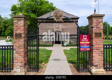 The Fort Pitt Block House (aka Bouquet's Blockhouse), Point State Park, Pittsburgh, Pennsylvania, USA - Stock Photo