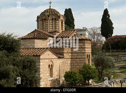 Church of the Holy Apostles. Byzantine church in Athens, Greece - Stock Photo