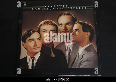 front cover of the 1977 kraftwerk album, trans-europe express - Stock Photo