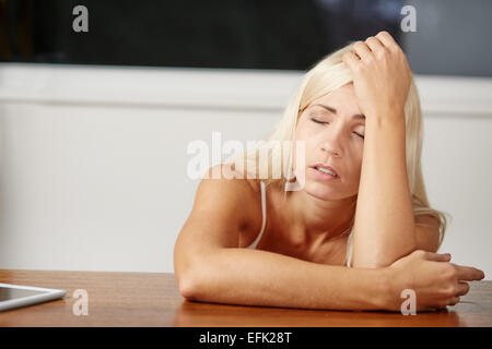 Young girl stressed - Stock Photo