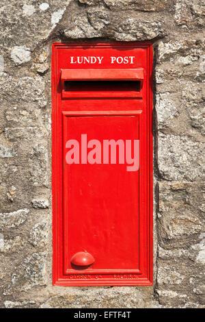 Post box on Lundy Island - Stock Photo