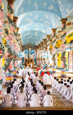 Cao Dai temple, Tay Ninh, Vietnam. - Stock Photo