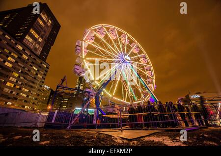 Ferris Wheel during Montreal en Lumière Festival, in 2012 - Stock Photo