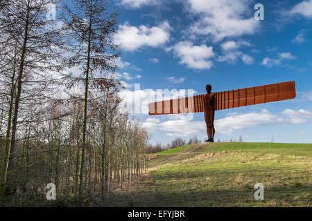 'The Angel of the North' by the artist, Antony Gormley, Gateshead, Tyne and Wear - Stock Photo