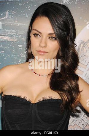 MILA KUNIS US film actress in February 2015. Photo Jeffrey Mayer - Stock Photo