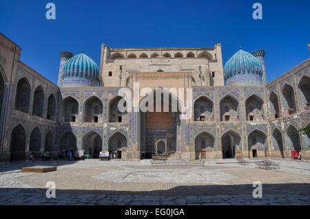 Beautiful palace in city of Samarkand, Uzbekistan - Stock Photo