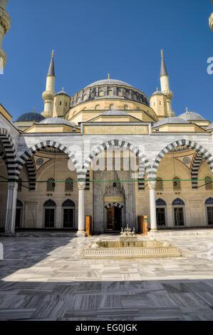 Mosque in Ashgabat, capital city of Turkmenistan - Stock Photo