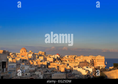 La Valletta, view from Upper Barracca gardens, Malta - Stock Photo