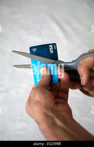 Cutting Up Cards - Stock Photo