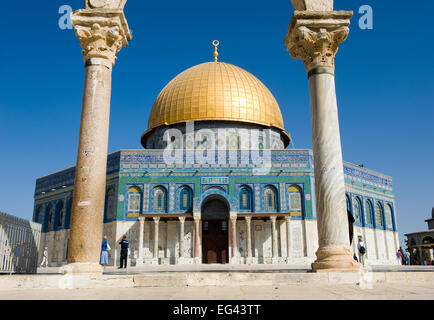 Dome of the rock on the Temple Mount in Jerusalem - Stock Photo
