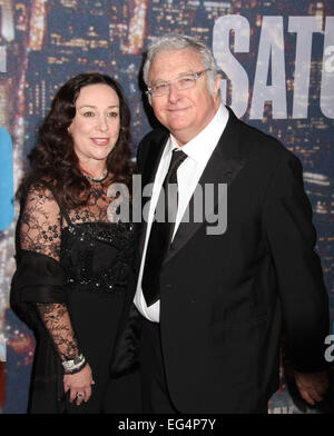 New York, New York, USA. 15th Feb, 2015. Singer/songwriter RANDY NEWMAN and WIFE attend the arrivals for SNL 40th - Stock Photo