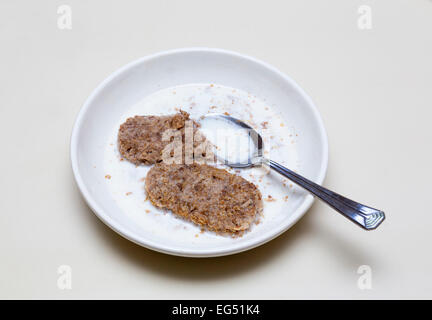 Wholegrain oats breakfast cereal - Stock Photo