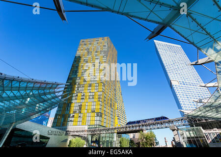 Las Vegas, The Crystals shopping mall at CityCenter complex - Stock Photo