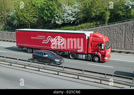 A Norbert Dentressangle lorry on the A40 in West London, UK. - Stock Photo