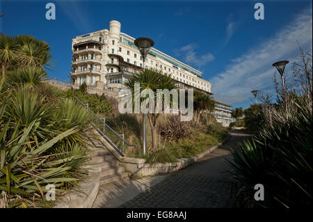 Southend-on-Sea, Essex, England,UK. 18 Feb 2015 Park Inn Palace Hotel viewed from gardens at Pier Hill - Stock Photo
