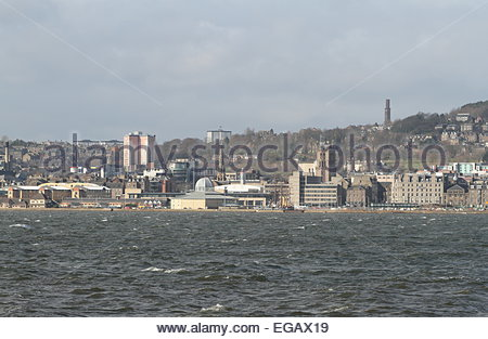 Discovery Point Dundee waterfront Scotland February 2015 - Stock Photo