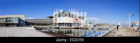 Lisbon Oceanarium, the second largest oceanarium in the world and the biggest in Europe. Lisbon, Portugal. - Stock Photo