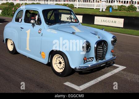 Tony Jardine's 1957 Austin A35 on the starting grid / Goodwood Revival / Goodwood / UK - Stock Photo