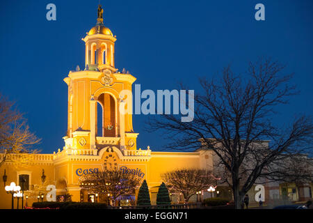 Denver, Colorado - Casa Bonita, a Mexican restaurant which is remembered for its entertainment rather than its food. - Stock Photo