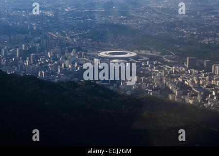 Rio de Janeiro, Zona Norte, Maracana stadion, FIFA 2014, Worldcup, Brazil - Stock Photo