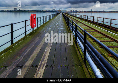 Southend Pier, The Longest Pier in the World, Southend-on-Sea, Essex - Stock Photo