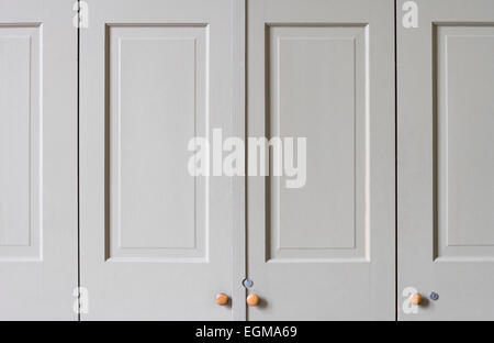 Closed Closet Doors - Stock Photo