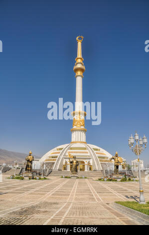 Monument of independence in Ashgabat, capital city of Turkmenistan - Stock Photo
