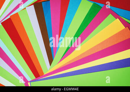 Set of brightly colored papers. - Stock Photo