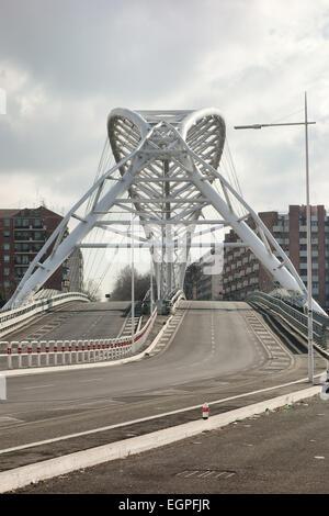 The Ostiense Bridge aka Garbatella Bridge in Rome, Italy - Stock Photo