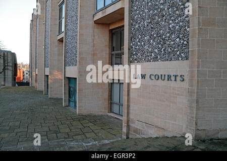Winchester Crown Court (Winchester Combined Court Centre), Winchester, Hampshire, UK. - Stock Photo