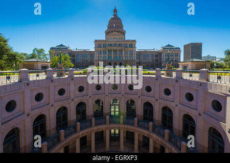 The Texas State Capitol, located in Downtown Austin, is the fourth building to house the state government of Texas. - Stock Photo