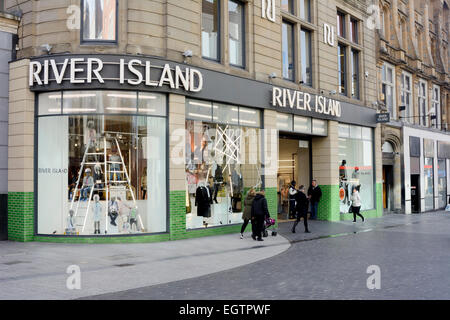 River Island fashion clothing store in Liverpool - Stock Photo