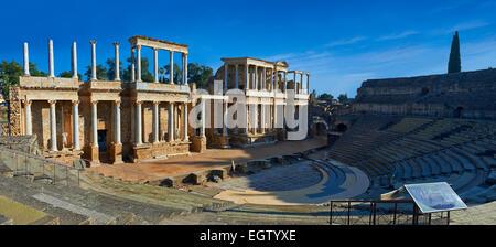 Roman theatre of the Roman colony of Emerita Augusta, Merida, Estremadura, Spain - Stock Photo